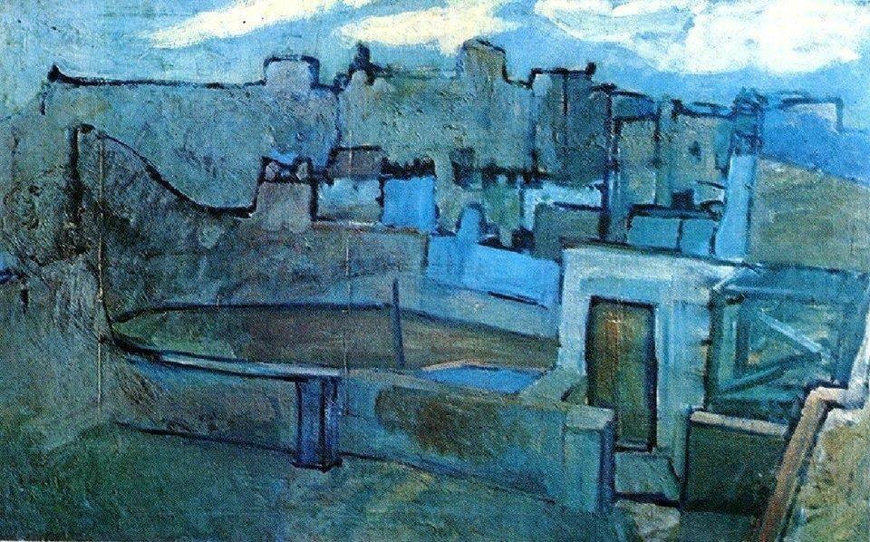 Pablo Picasso, Azoteas de Barcelona, 1903. Óleo sobre lienzo, 71 x 112 cm, Museo Picasso, Barcelona.