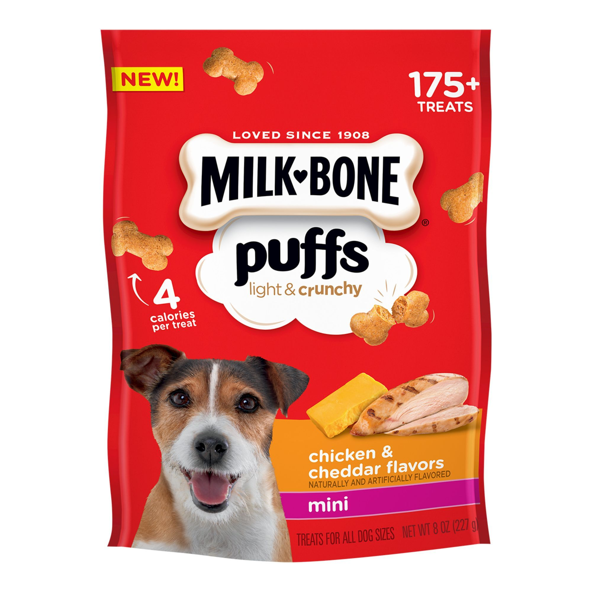 Milk Bone Puffs Light Crunchy Mini Dog Treat Chicken Cheddar