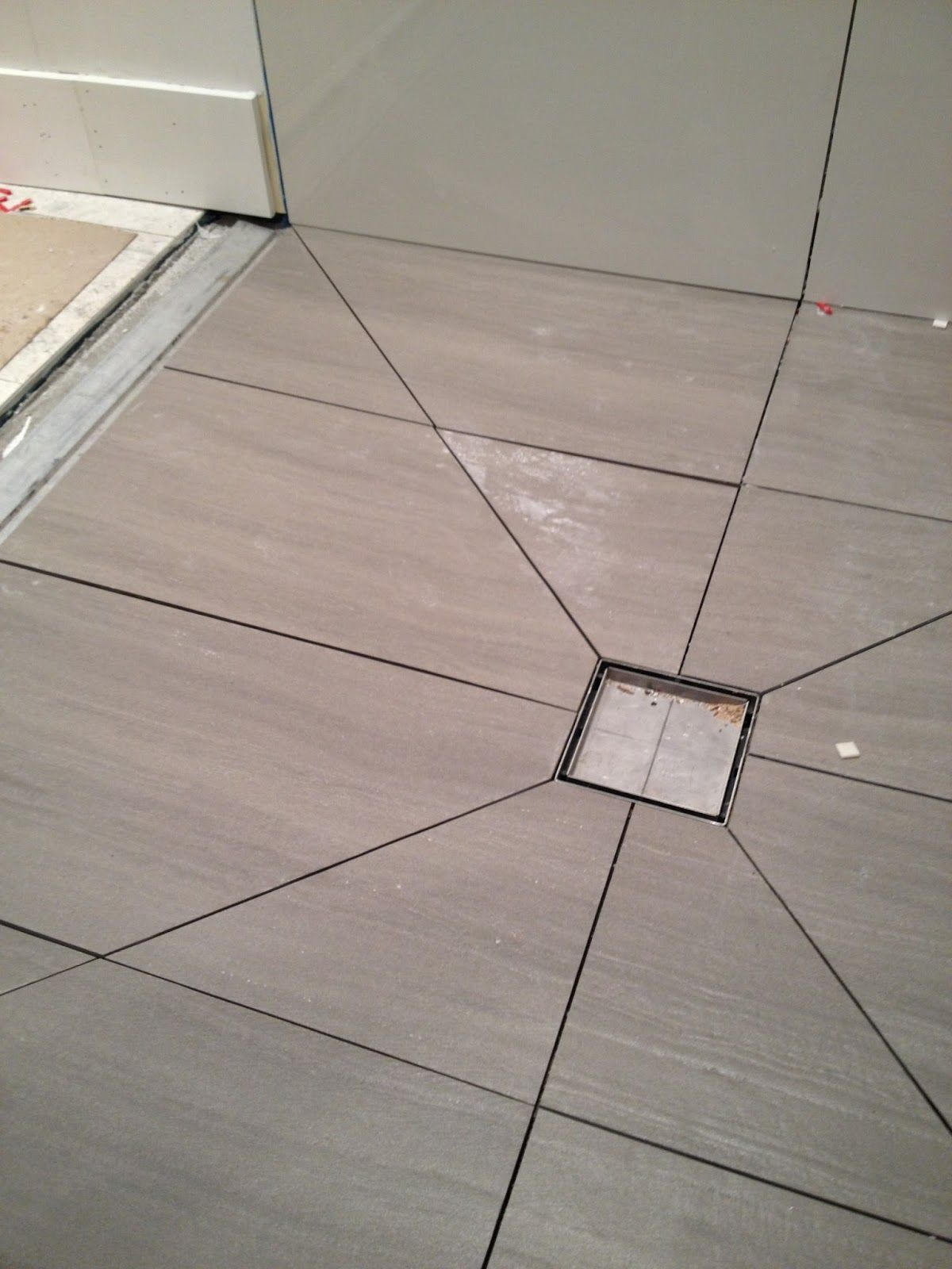 Diagonal Tile Cuts To Slope Shower Floor