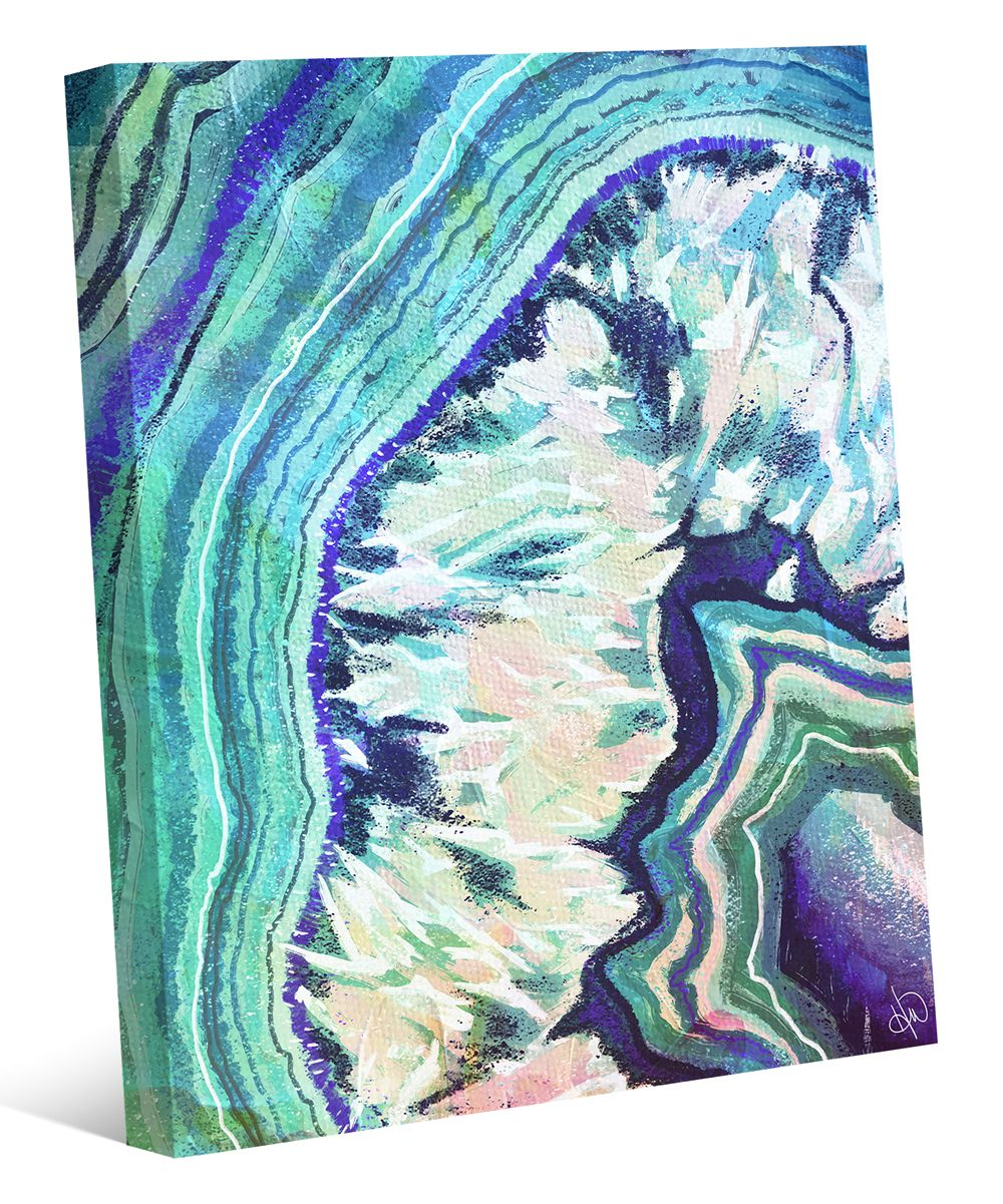 Crystal geode zircon wrapped canvas crystal geode