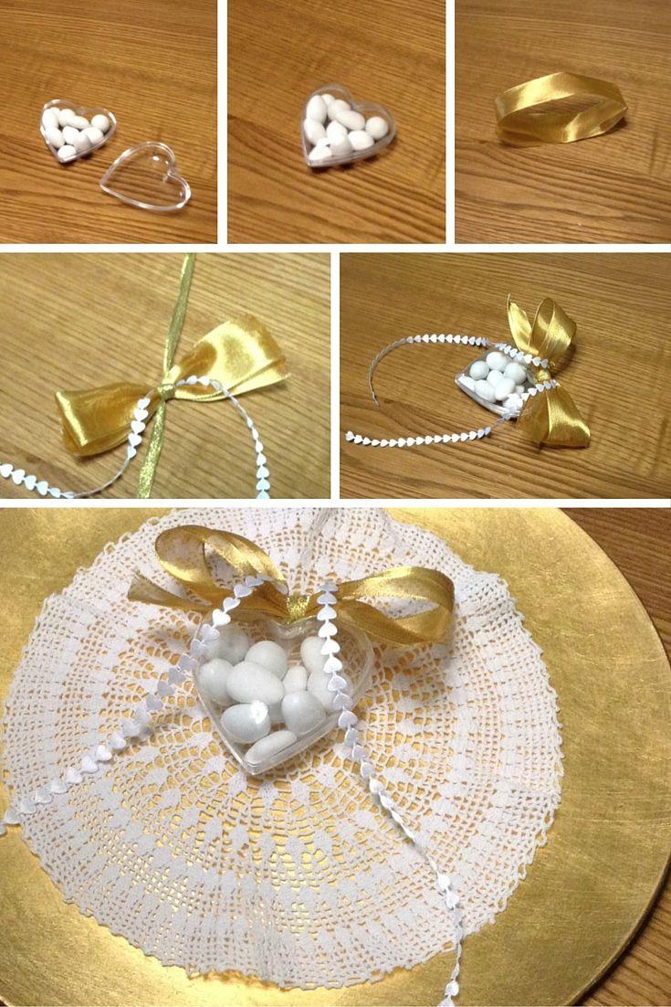 Come Addobbare Un Tavolo Per Confettata un fai da te semplice e prezioso come l'oro per addobbare la