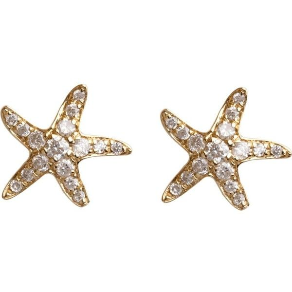 Annoushka 18ct Yellow Gold And Diamond Love Diamonds Starfish Stud 1 085
