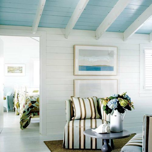 Painted wood and open beams...great combination! Blue CeilingsPainted ...