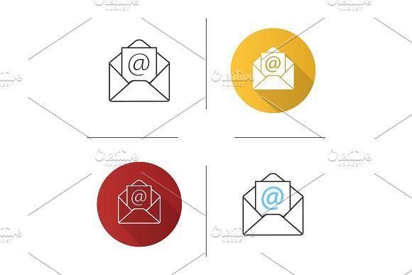 E-mail address icon | Envelope | Address icon, Graphic