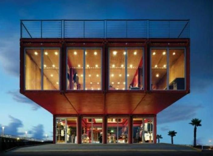 Las mejores creaciones de casas hechas con contenedores for Diseno de oficinas con contenedores