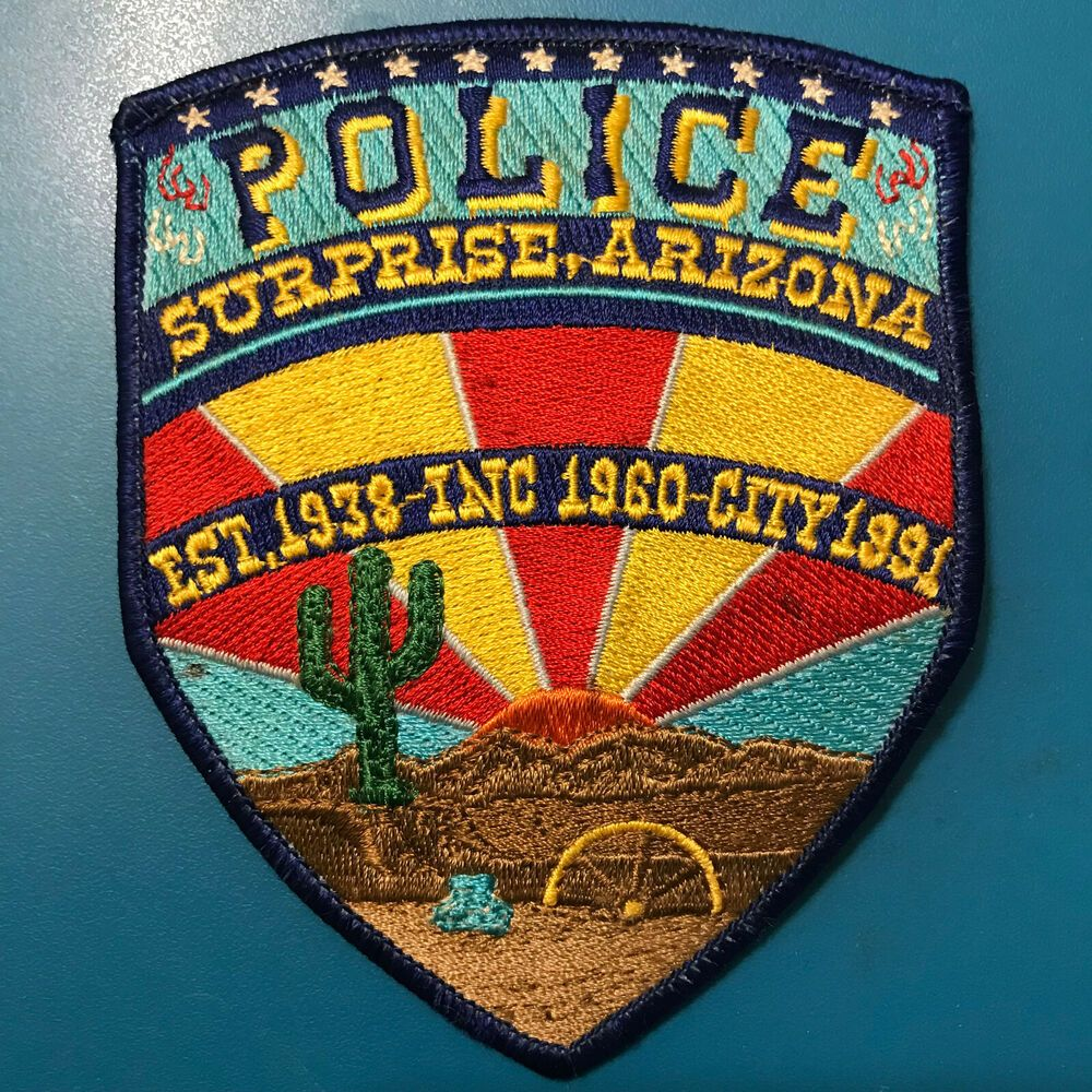 Surprise Police Maricopa County Arizona AZ Cactus Wagon
