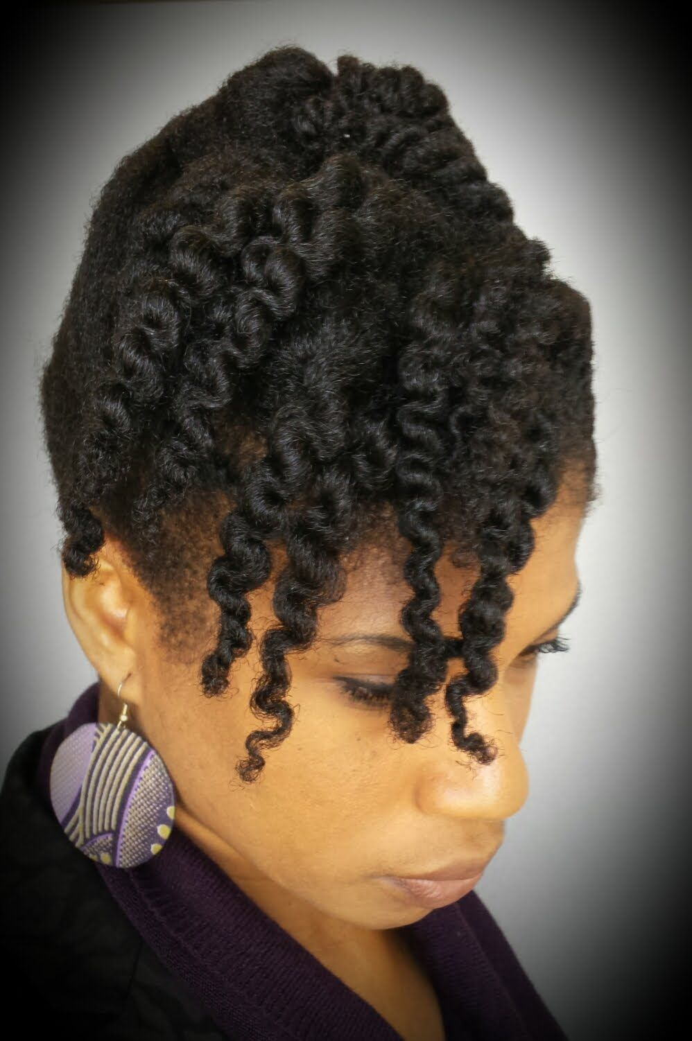 4 Natural Hair 10 Minute Cornrow And Twist Updo Protective Style Natural Hair Styles Thin Fine Hair Protective Hairstyles For Natural Hair