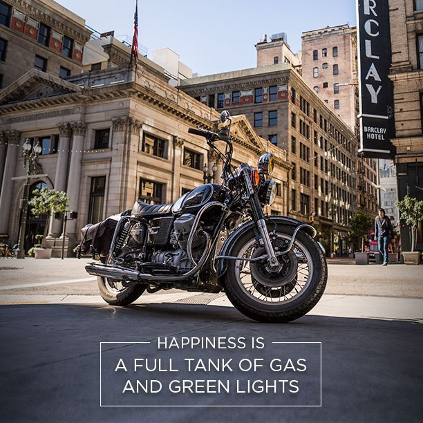 Happiness is 'A full tank of gas and green lights'.  Shop jouw Vanguard V8 Racer Jeans @ http://www.nummerzestien.eu/vanguard/jeans/