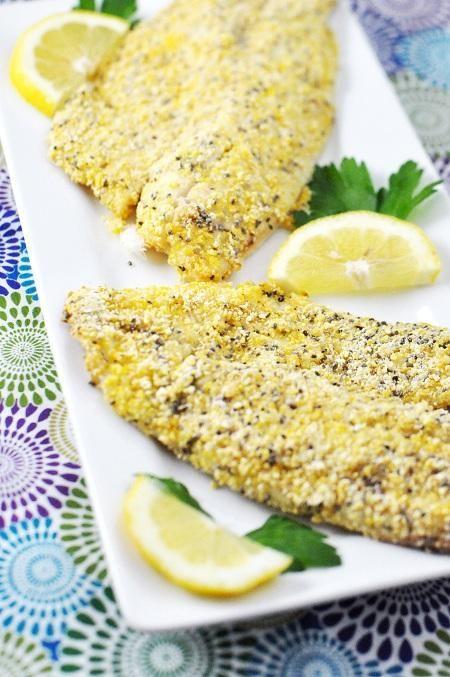 poisson croûte graine citron fines herbes