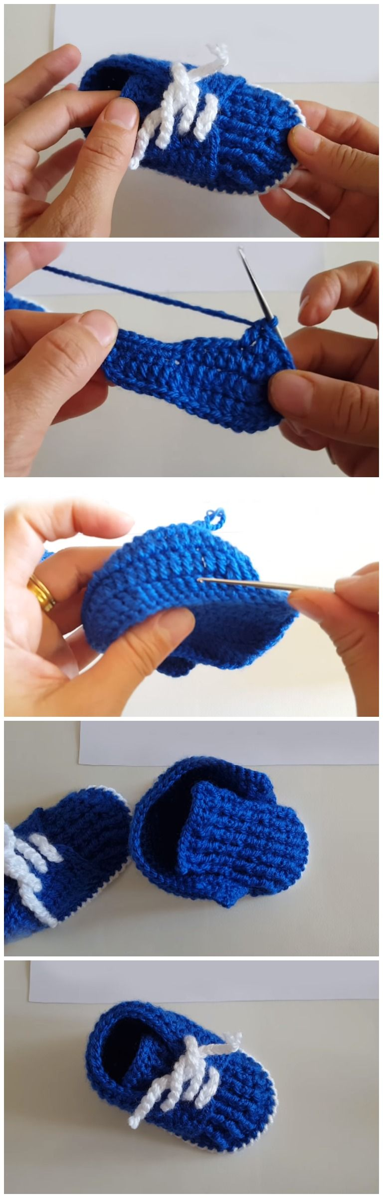 Easy And Beautiful Baby Booties Free Pattern [Video] | Baby schuhe ...