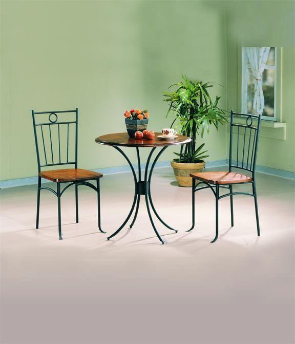 Coaster Furniture Honey Black Metal 3Pc Dining Room Set 400 x 300