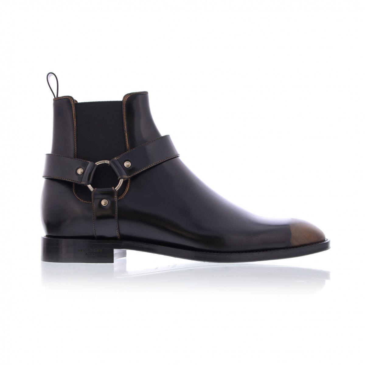 Givenchy Black Bandana Buckle Boots Gl1KZ