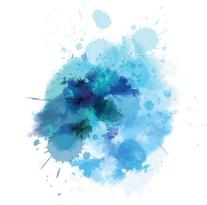 Watercolored Splash Blot In Blue Color Eps10 Watercolor Blue