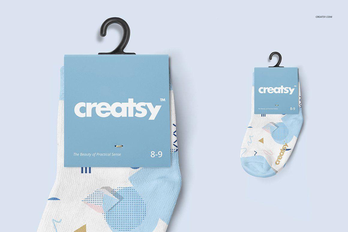 Download Baby Socks 2 Mockup Set Socks Packaging Baby Socks Vintage Business Cards