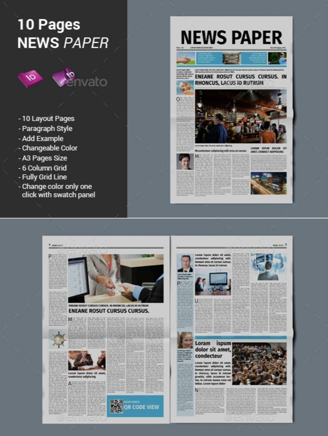Best Print Newspaper Templates In Adobe Indesign Photoshop