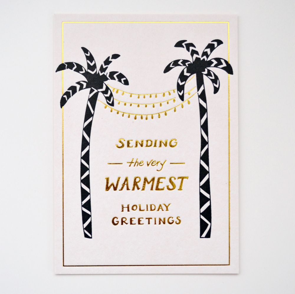 Image of WARMEST HOLIDAY GREETINGS postcard