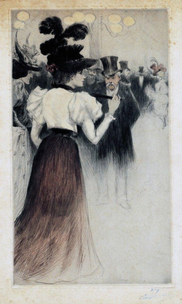 Exposition Impressions à Montmartre au Musée de Montmartre : Au bal, Eugène Delâtre (c) Musée de Montmartre