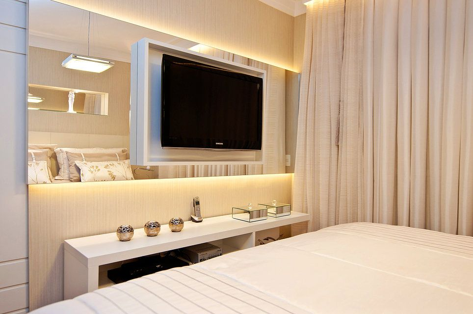 painel tv quarto casal | Deco | Pinterest | Bedrooms, TVs and TV unit