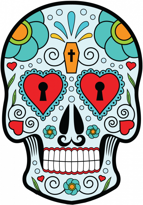 sticker calavera tete de mort mexicaine 11. Black Bedroom Furniture Sets. Home Design Ideas