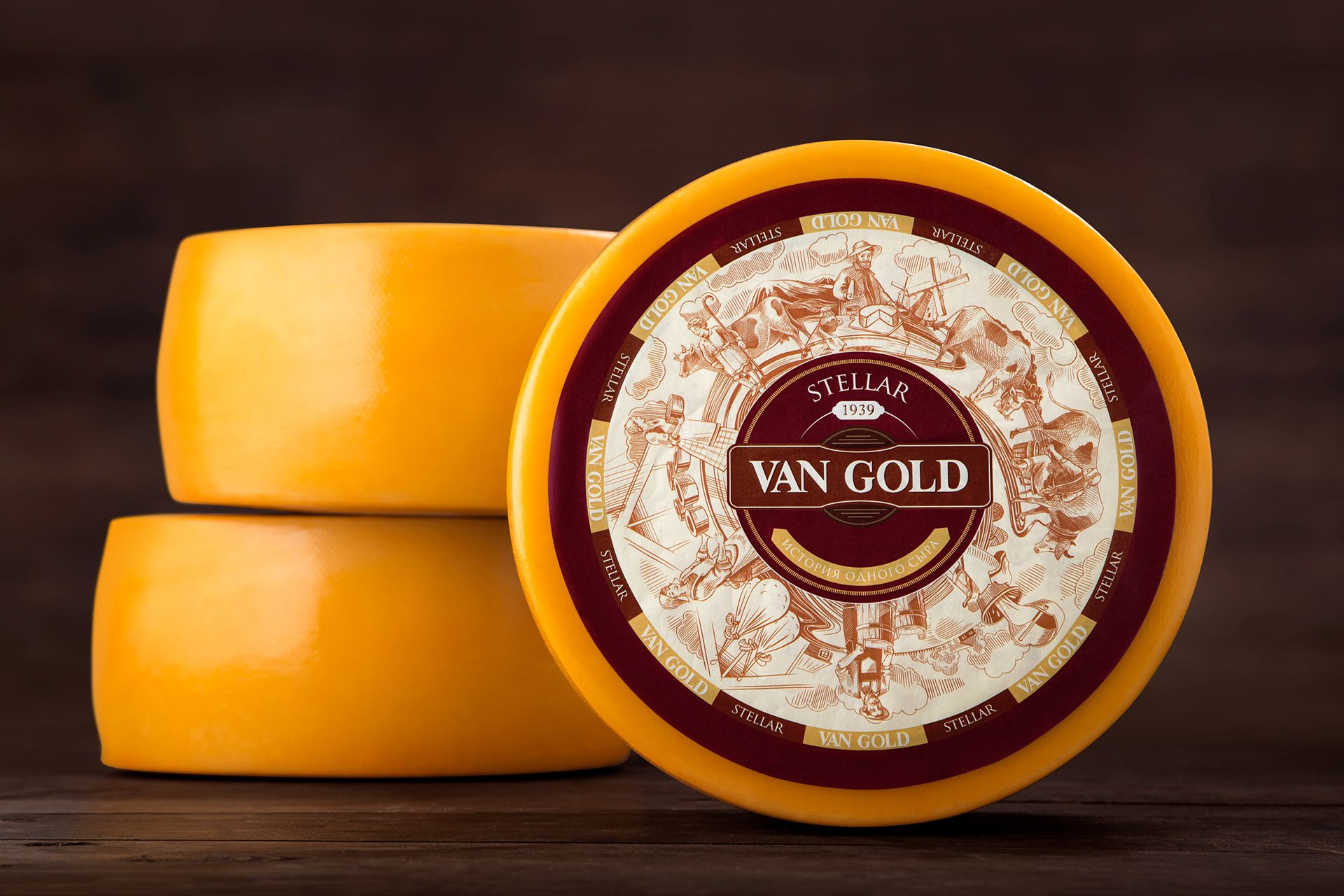 Van Gold Traditional European Cheeses From Belarus On Behance Cheese Packaging Cheese Brands Packaging Design