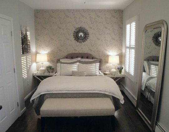 small and calm grey bedroom--apartment therapy | Small ...