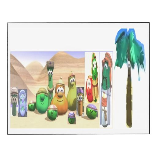 Playful Dave Wall Panel Smile VeggieTales Dave and the Ben Haramed Mr. Nezzer Palmy