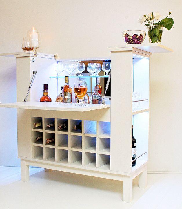 ausgefallene m bel f r dein zuhause bar mit ausklappbarem tisch und led licht der. Black Bedroom Furniture Sets. Home Design Ideas