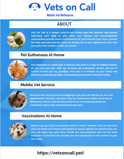Vets On Call Is A Mobile App That Allows You To Order A Vet To