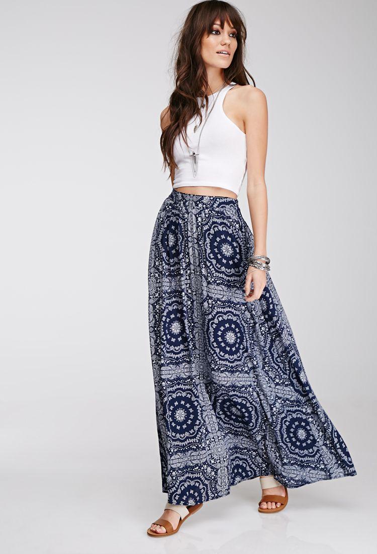 Paisley Print Maxi Skirt | FOREVER21 - 2000079157 | forever 21 ...