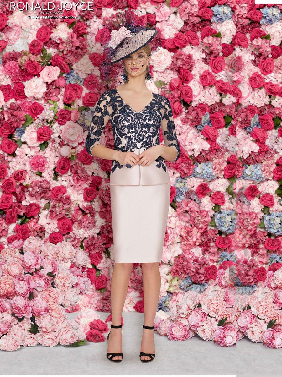 Veni infantino blush lace applique dress style cliento