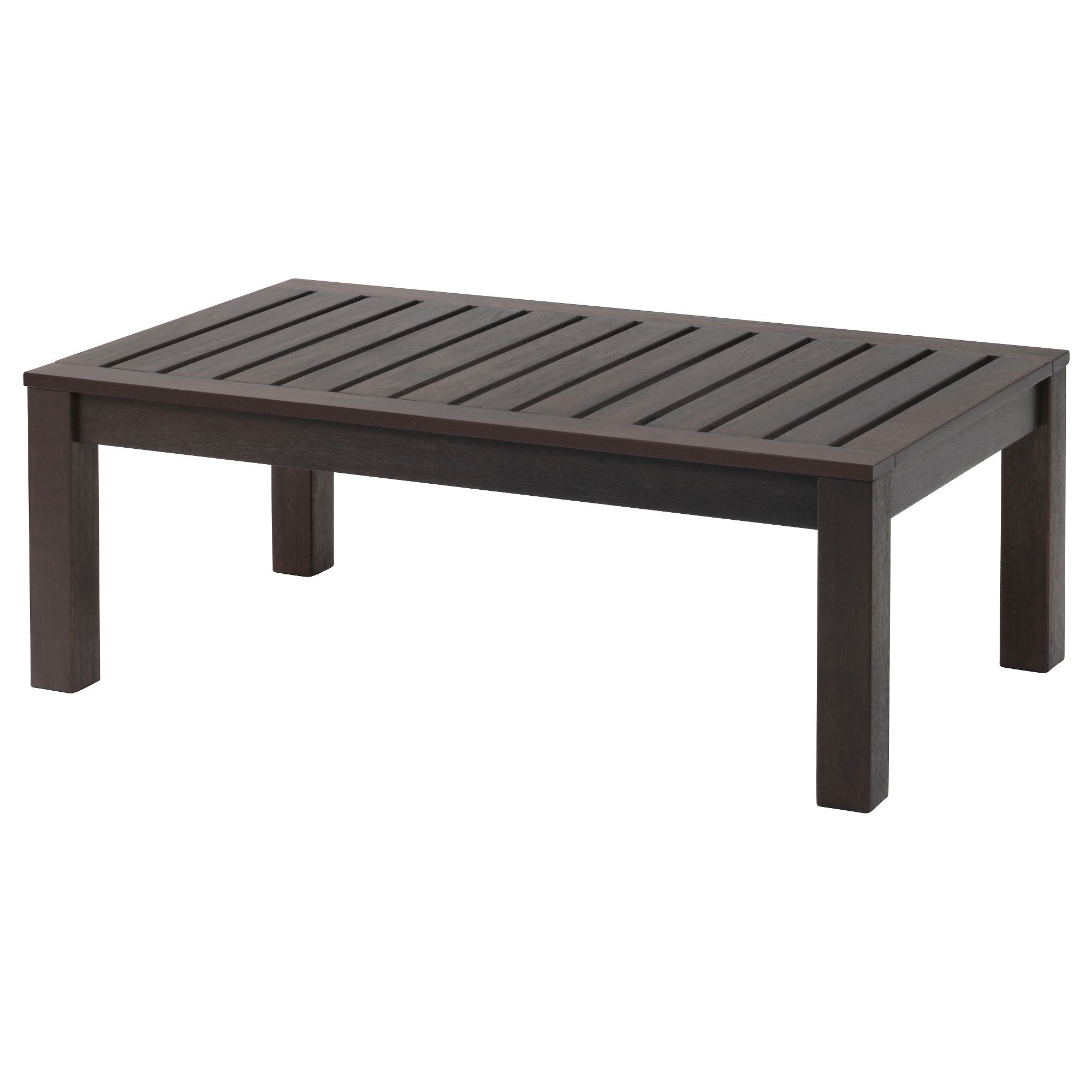 Kloven Coffee Table Outdoor Black Brown Brown Stained 44 1 2x26