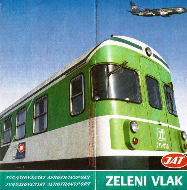 Jat S Green Train Ljubljana Zagreb Express 1980s Vintage Photos Photo Aviation News