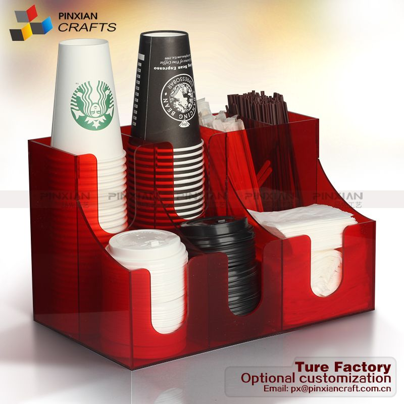 Coffee 5 Oz Paper Cup Dispenser Countertop Items 7007 R Red
