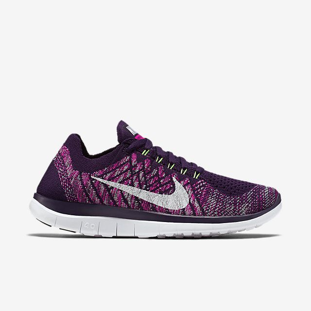Womens Nike Women's Free 4 0 Flyknit Running Shoes Brave Blue/Fuchsia Glow/Game Royal Color On Sale Online Size 36
