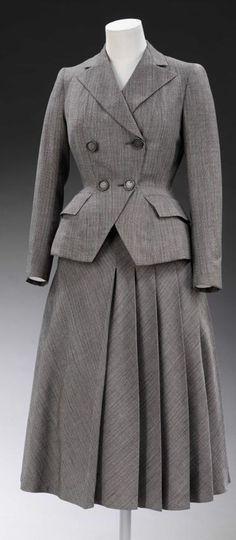 day dress fall 1947 - Google Search