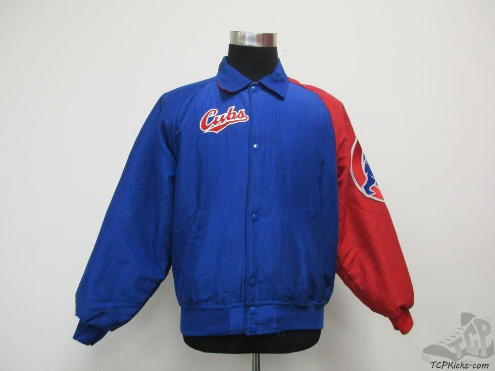Vtg Chicago Cubs Starter Diamond Collection MLB Button Up Satin Jacket Sz Men's 2XL RWLB6