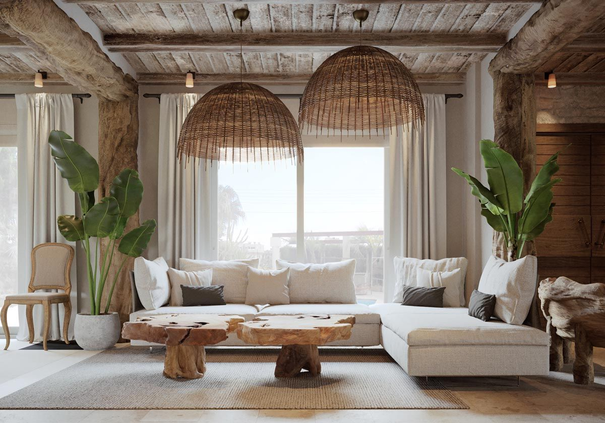 45 Beautiful Living Rooms With Irresistible Modern Appeal Boho Living Room Decor Rustic Living Room Tropical Living Room