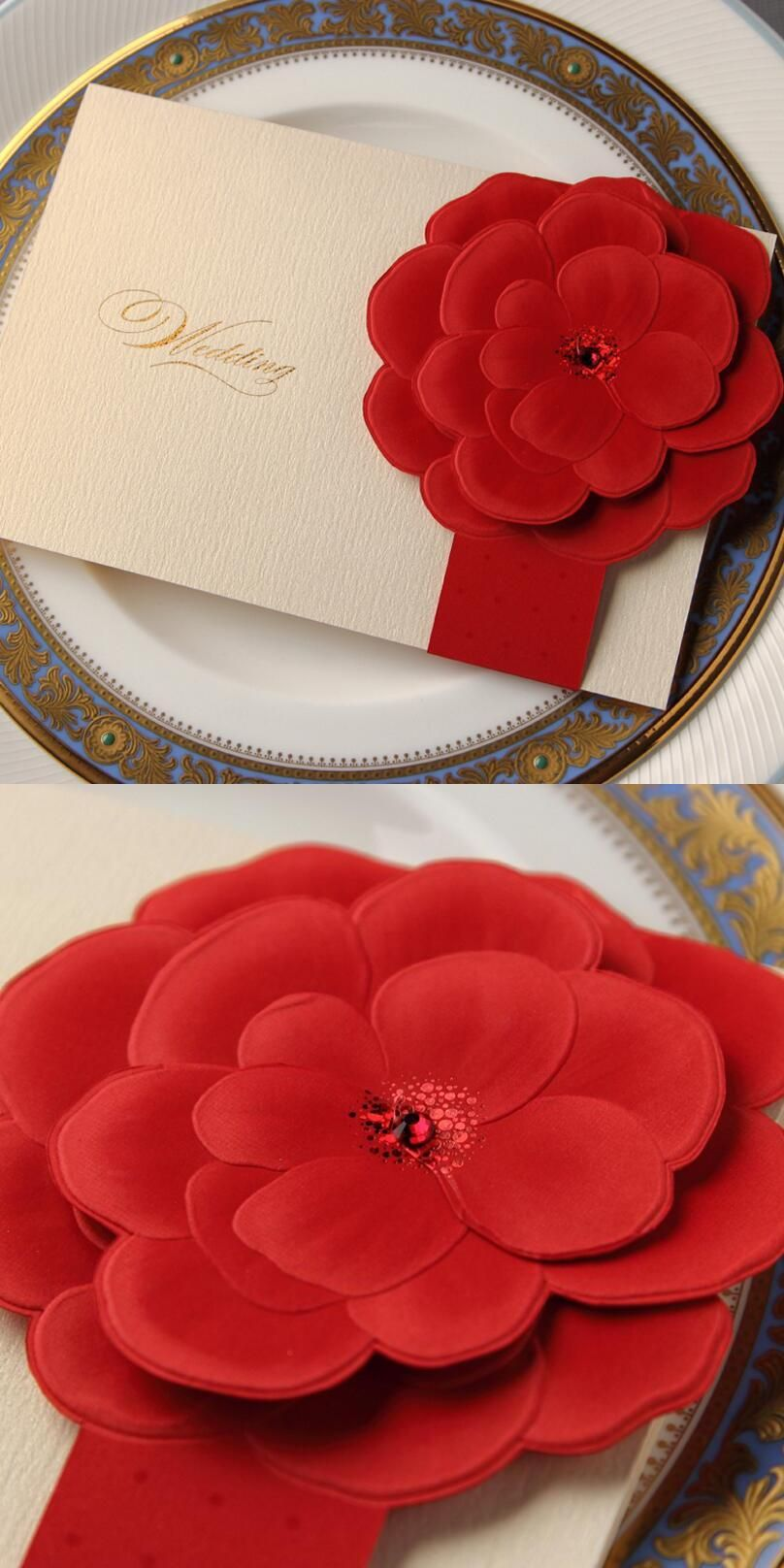 25 Pieces/pack Free Shipping Romantic Red Color Rose Wedding ...