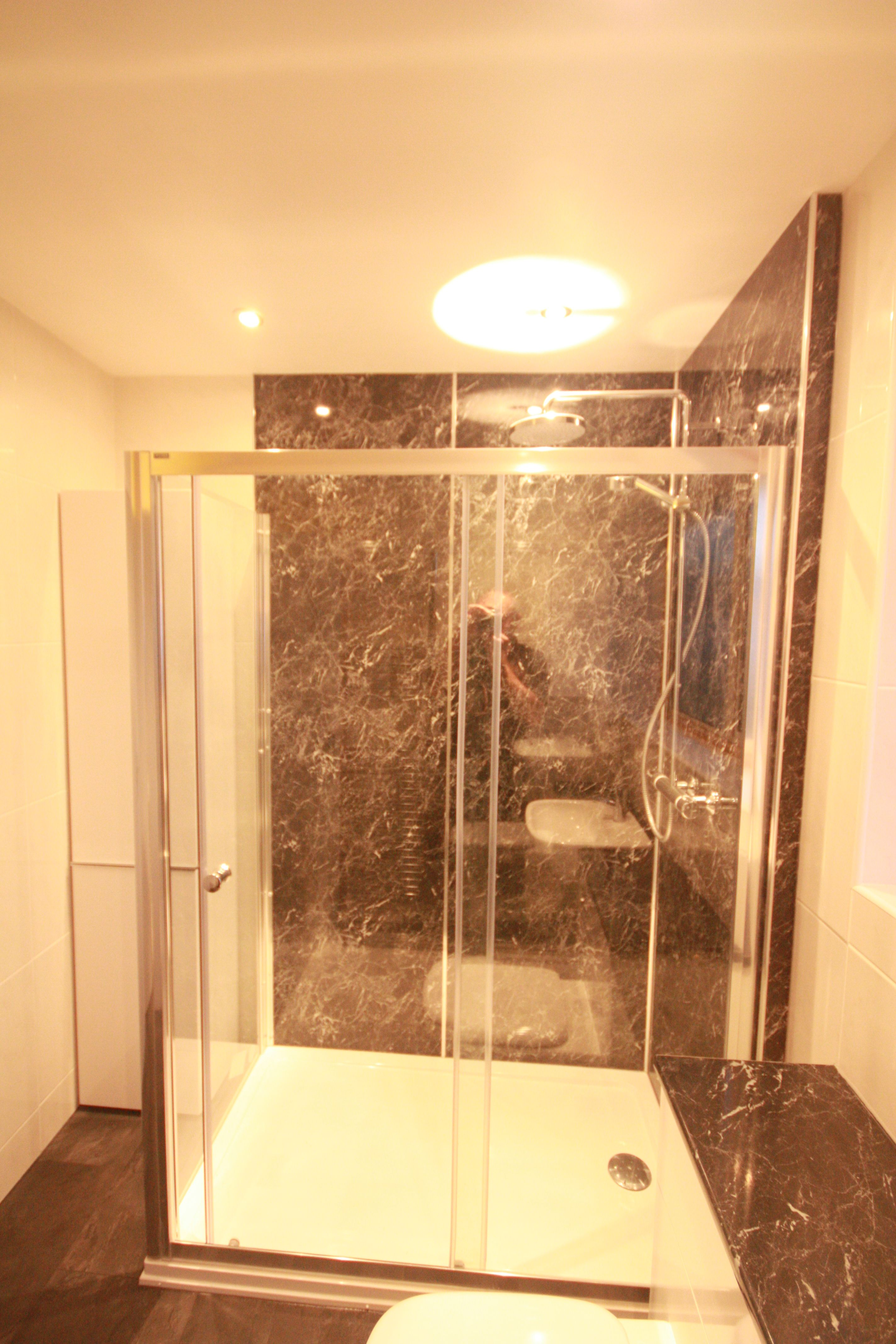 Aqua Panels Make A Super Sleek Easy Clean Shower Enclosure Many - Easy to clean bathroom tile