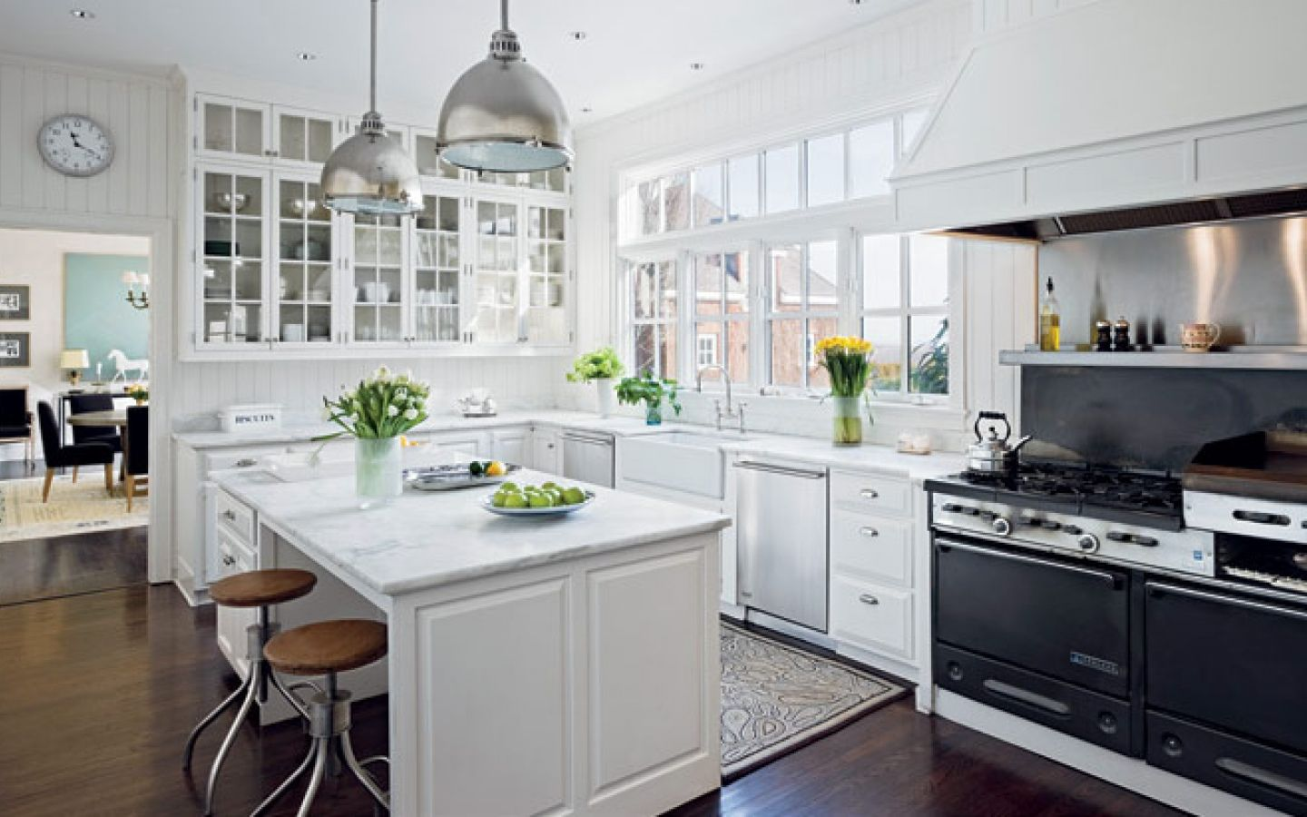 Beautiful White Country Kitchens picture of modern country kitchen design with white cabinet