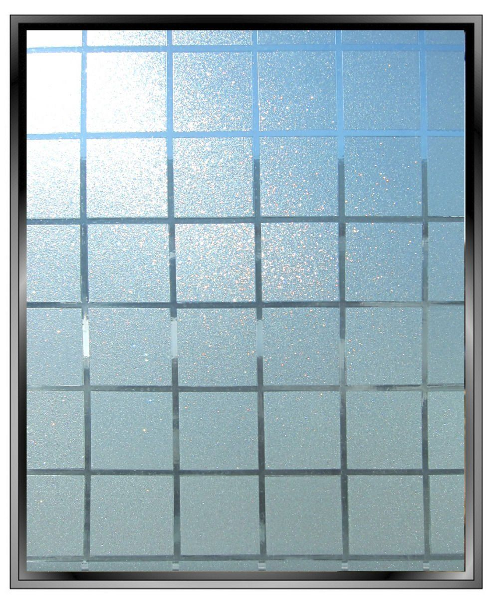 Vvivid frosted glass squares decal for mirrored closet doors