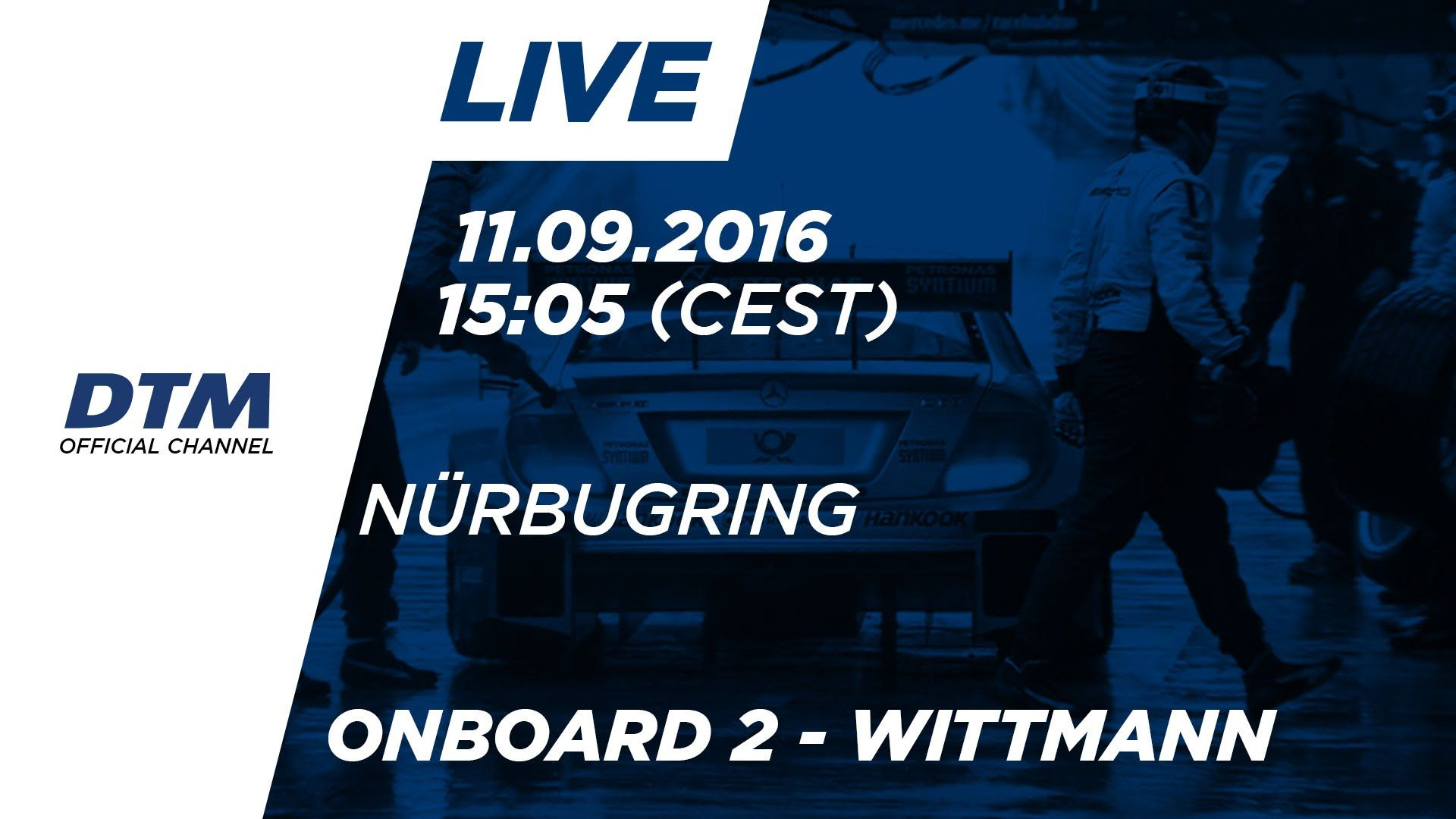 Marco Wittmann (BMW M4 DTM) - LIVE Onboard (Race 2) - DTM Nürburgring 2016 // Watch race 2 in Nürburgring from the perspective of Marco Wittmann (BMW M4 DTM).  Schaut euch das zweite DTM Rennen in Nürburgring aus der Perspektive von Marco Wittmann (BMW M4 DTM) an!  Onboard Jamie Green: https://youtub.be/JIr6lZftkkA Onboard Robert Wickens: https://youtub.be/PosVVVpY2Go  Subscribe to our YouTube channel (http://bit.do/subscribeDTM) and follow us on our social media platforms.