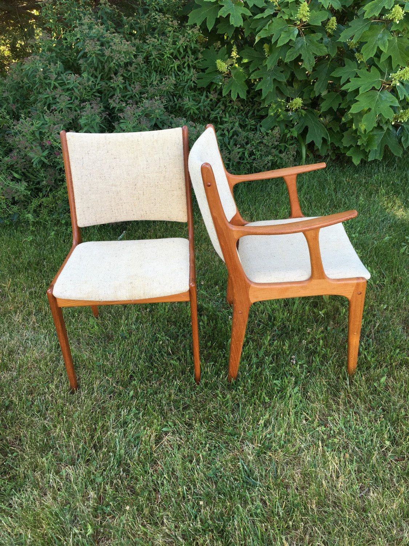 Beau Danish Teak Dining Chairs, Set Of 5, Sun Furniture For KD Furniture, Mid