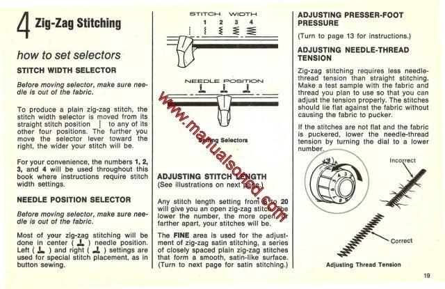Singer 257 Fashion Mate Sewing Machine Instruction Manual Sewing Machine Instructions Sewing Machine Instruction Manuals Sewing Machine
