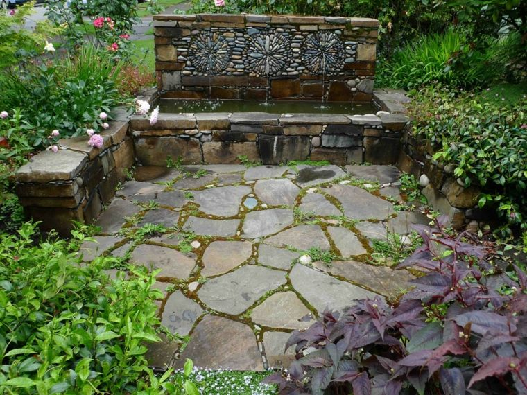 jardines terraza estilo rstico piedra vidrio accesorios diseo de paisaje del patio trasero pequeo patio paisajismo ideas de jardinera