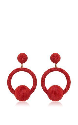 Medium rebecca de ravenel red linda hoop la la earrings