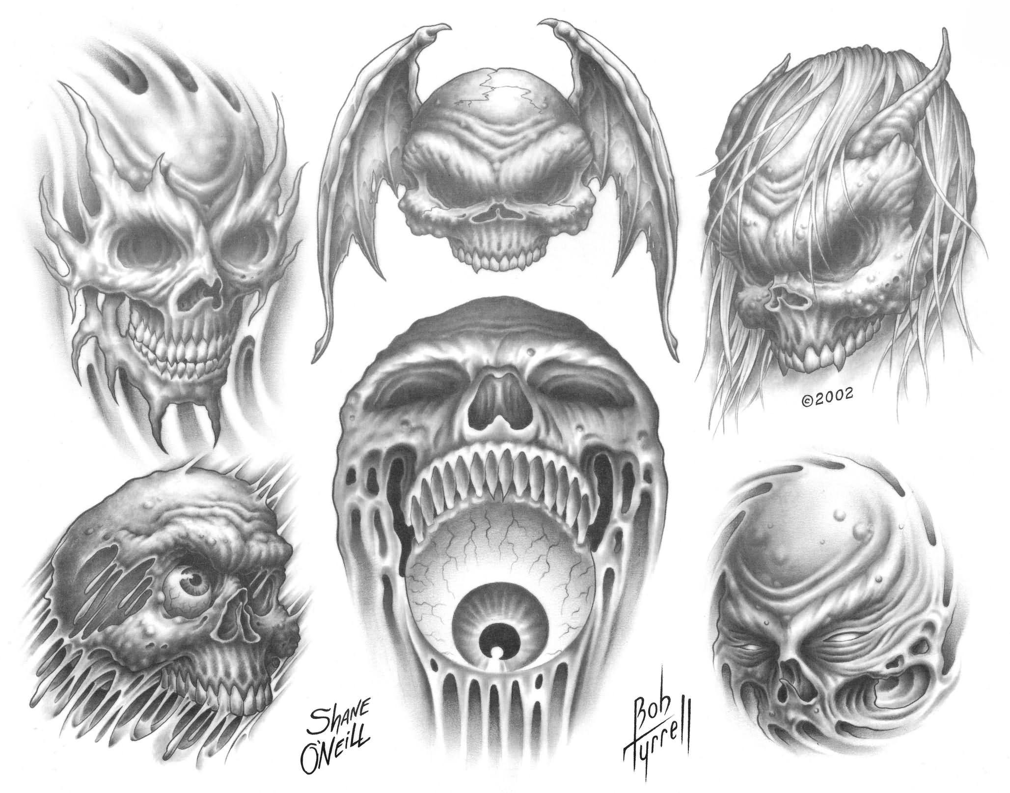 Amazing Grey Ink Demon Tattoos Designs For Men Demon Tattoo Designs Demon Tattoo Tattoo Designs Men Skull Tattoo Design