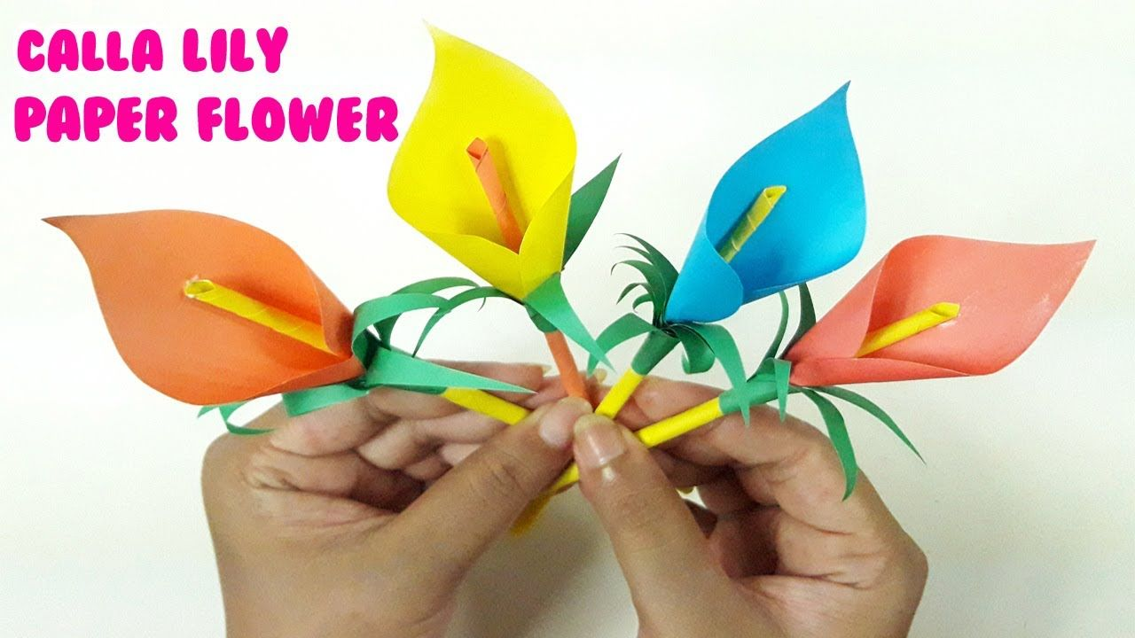 Calla Lily Paper Flower Easy Origami Flowers For Beginners Diy
