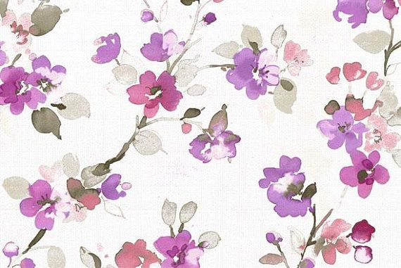 Pink And White Floral Fabric By The Yard Colorful Spring Fabric