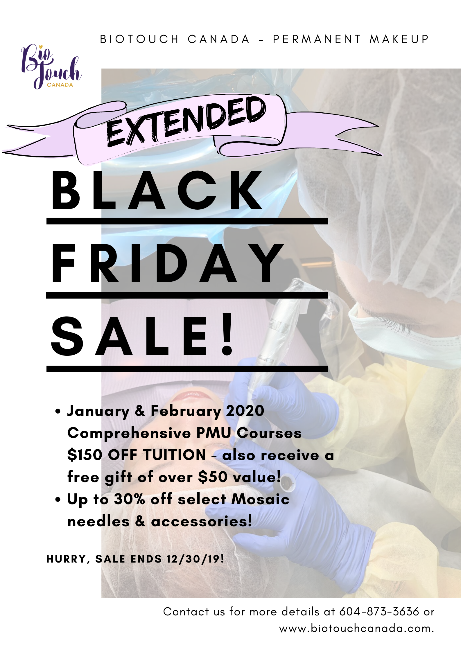 Extended Black Friday Sales At Biotouch Canada Permanent Makeup Training Permanent Makeup Makeup